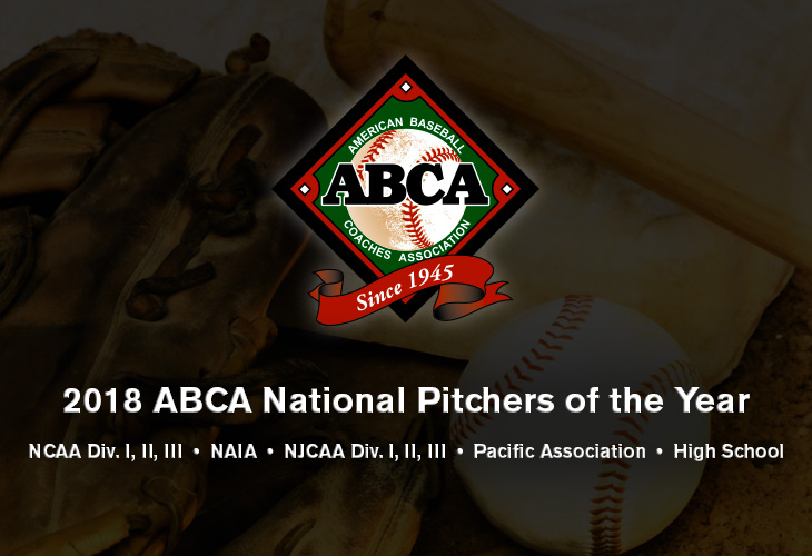 2018 abca national pitchers of the year
