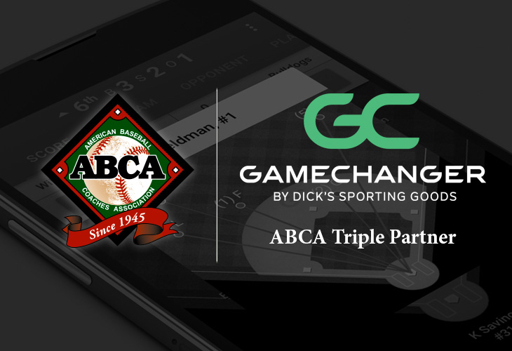 GameChanger by DICK'S Sporting Goods introduced as ABCA Triple Partner.